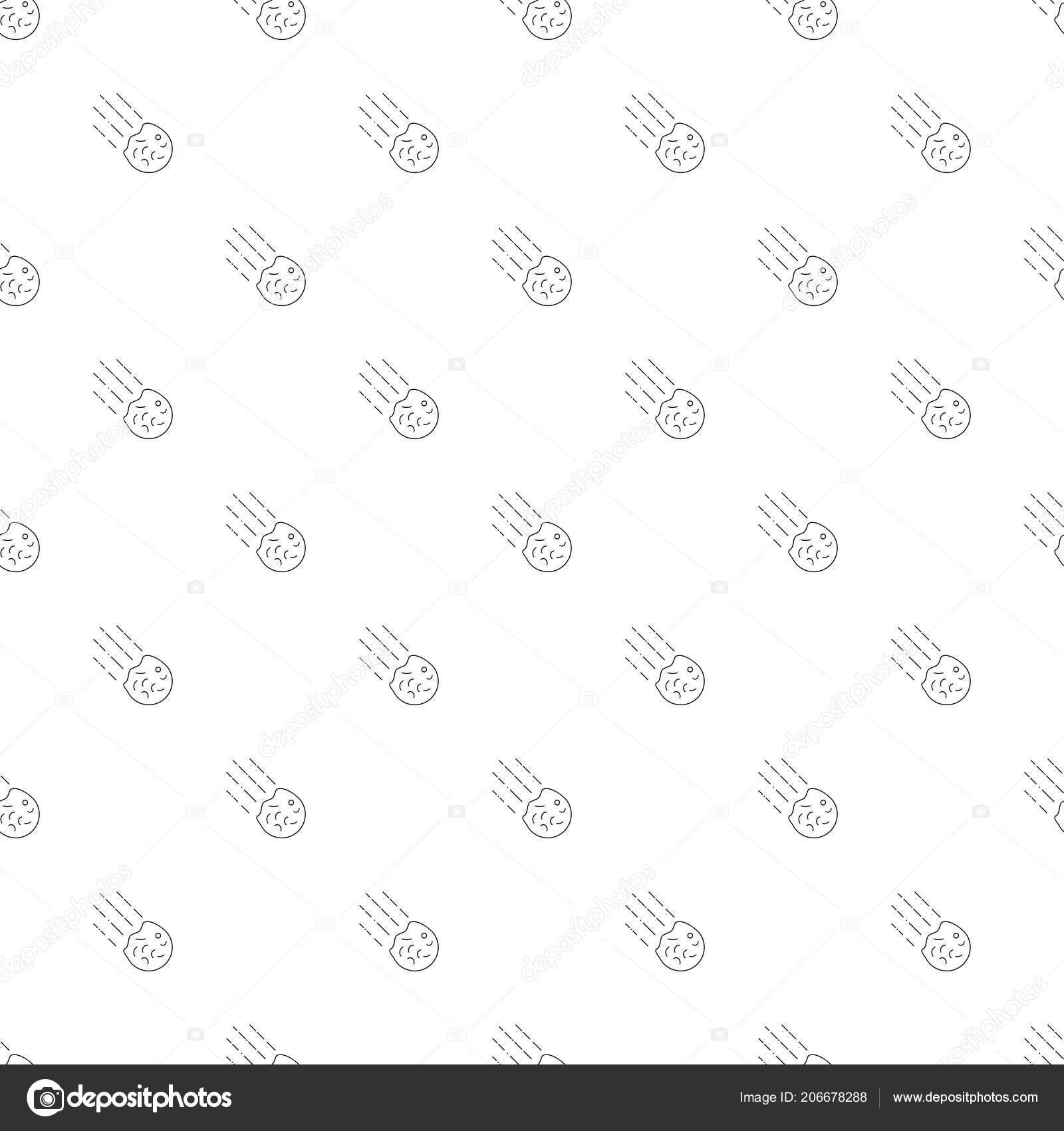 Fondo de cometa icono de línea de — Vector de stock © dimapolies ...