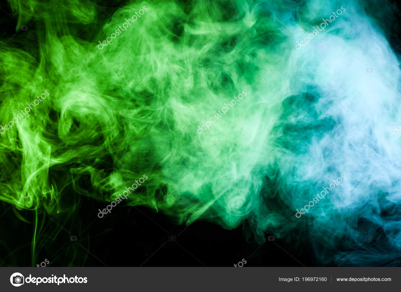 Smokey Wallpaper Smoke Abstract Background Blue Green