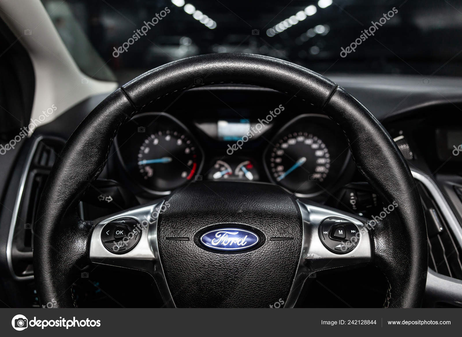 Novosibirsk Russia February 2019 Ford Focus Close Dashboard