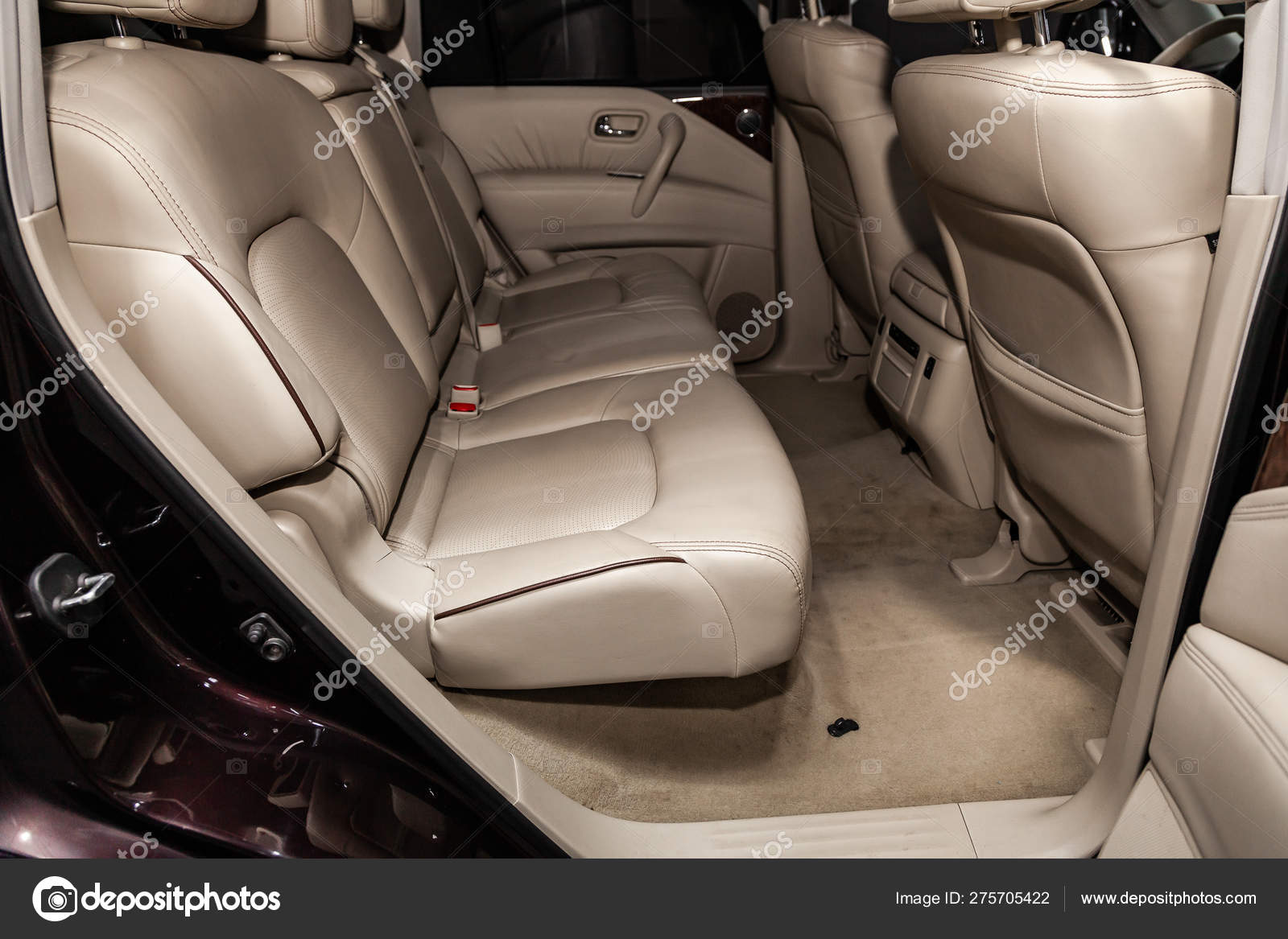 Novosibirsk Russia June 2019 Nissan Patrol Close Beige