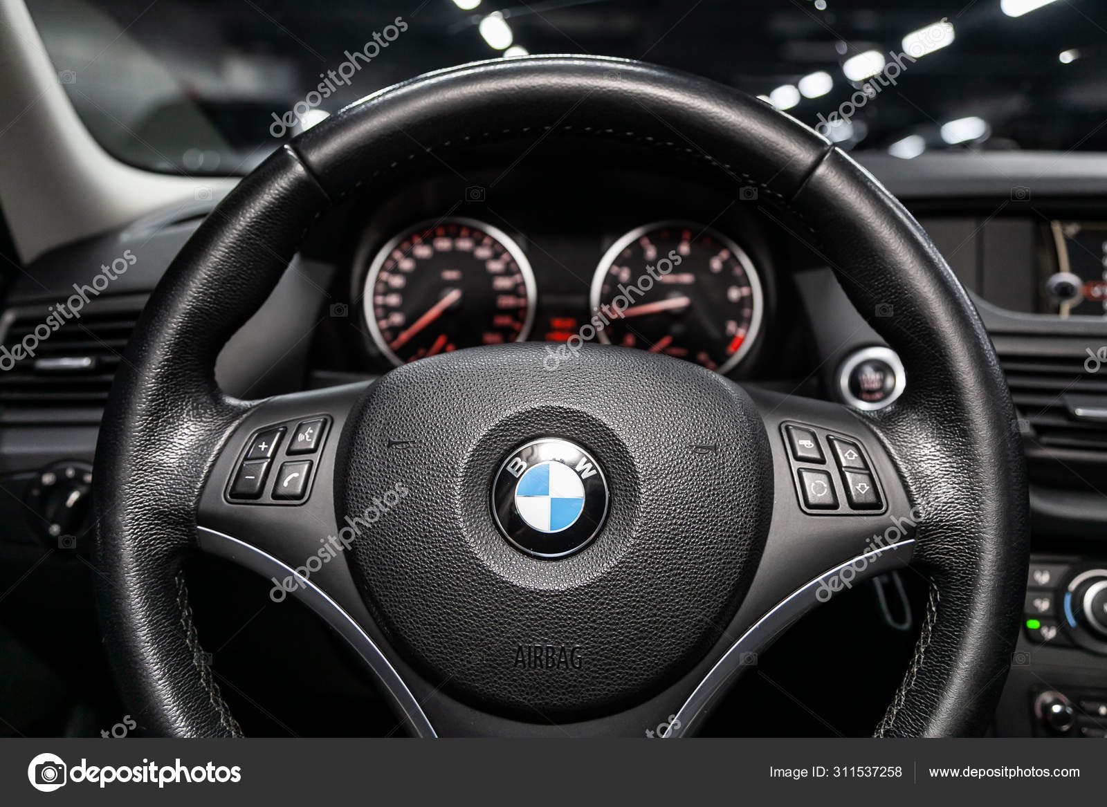 Novosibirsk Russia September 2019 Bmw Black Luxury Car Interior Dashboard Stock Editorial Photo C Everyonensk 311537258