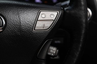 Novosibirsk/ Russia  May 25, 2020:  Lexus LS, New black steering wheel with multifunction buttons for quick control phone, music and other function