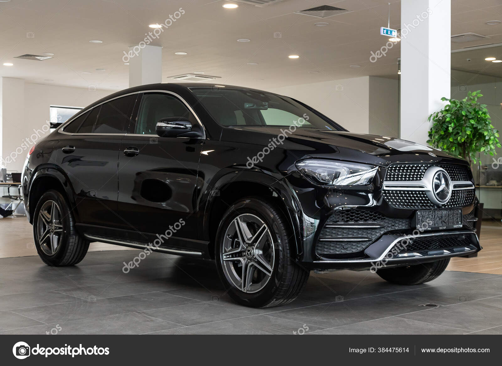 Novosibirsk Russia April 2020 Black Mercedes Benz Gle Class Mid Stock Editorial Photo C Everyonensk 384475614