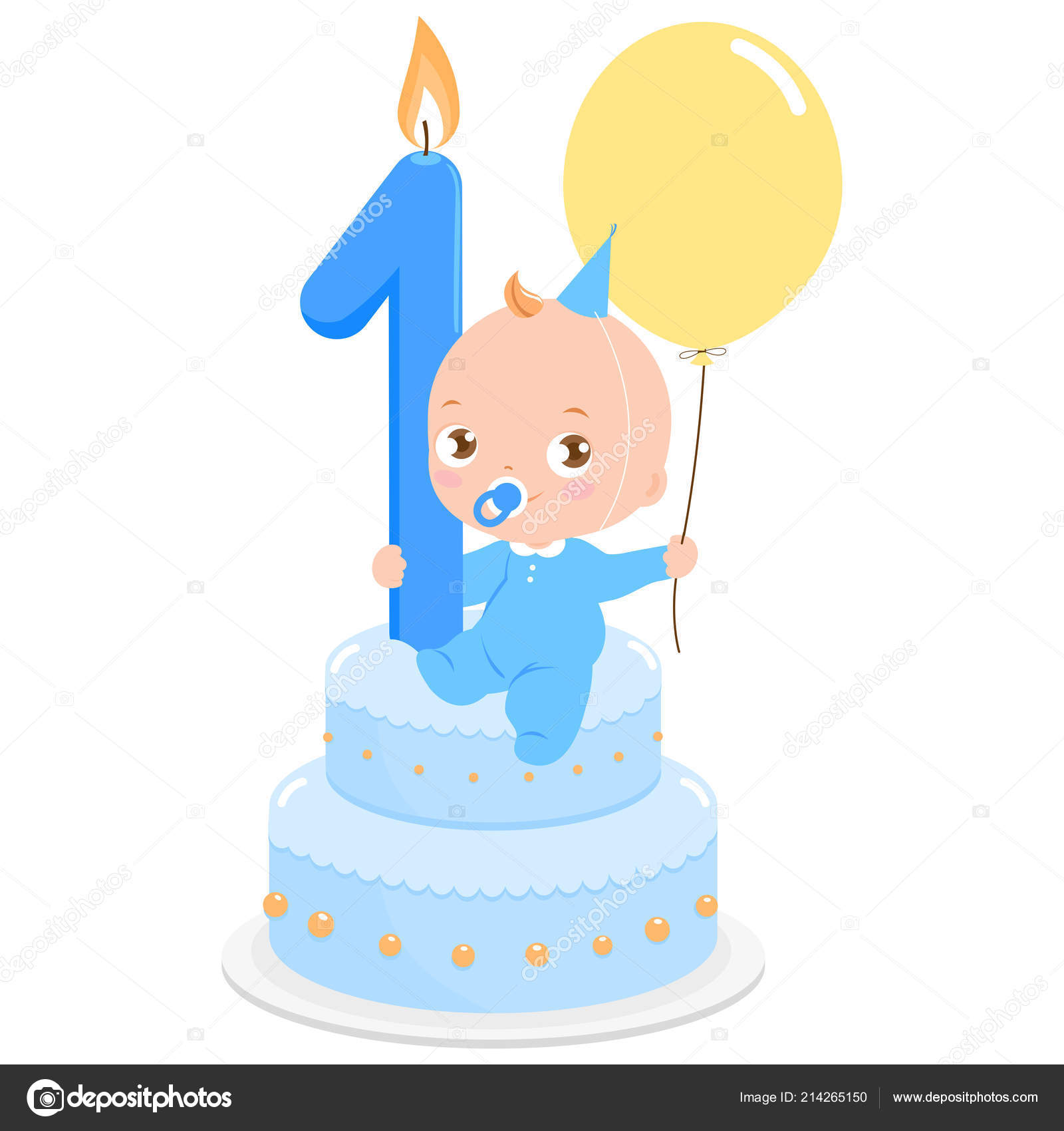 Astounding Baby Boy Birthday Cake Celebrating His First Birthday Holding Funny Birthday Cards Online Inifodamsfinfo