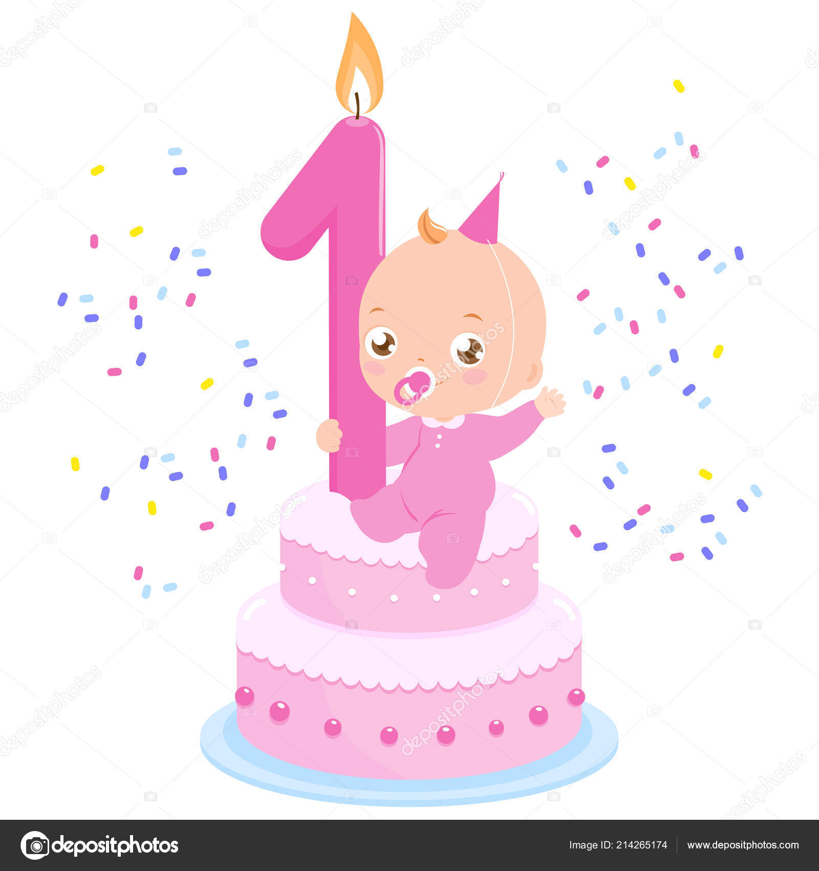 Fabulous Pictures Baby Girl Birthday Cake Baby Girl Birthday Cake Funny Birthday Cards Online Hetedamsfinfo