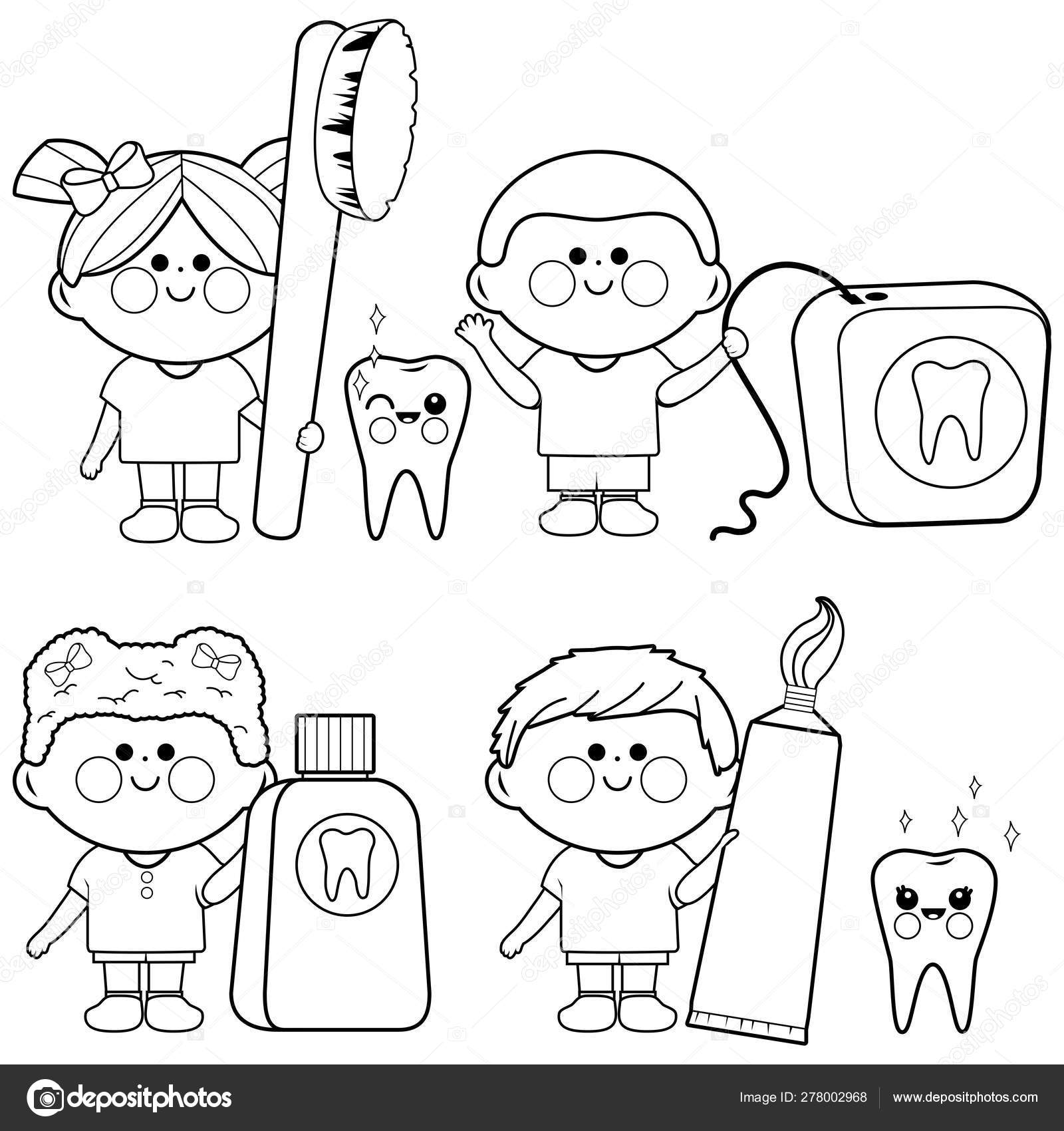 Dental Coloring Pages for Children | Dr. Tom Conner DDS | 1700x1600