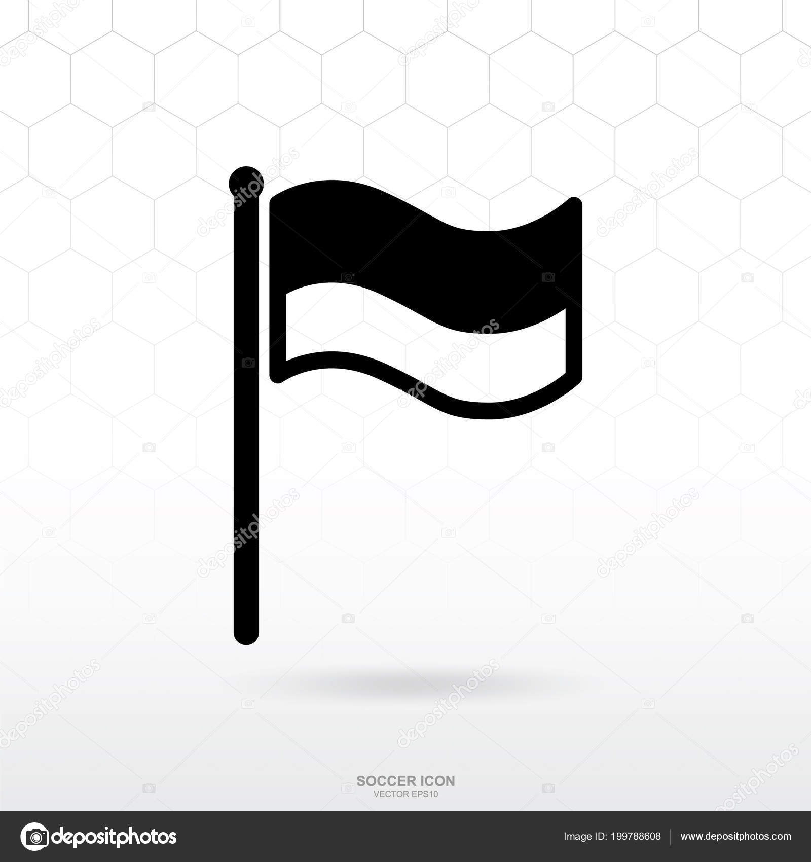 Flag Icon Soccer Football Sport Sign Symbol Template Design Vector