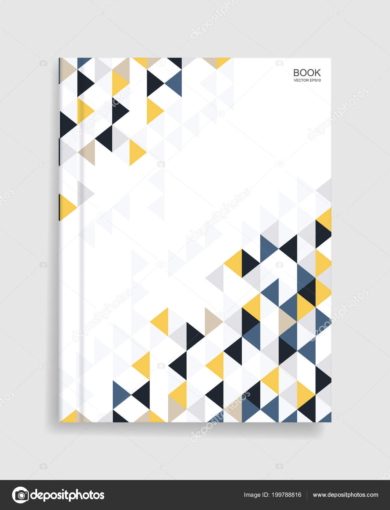 magazine book template background cover geometric pattern background