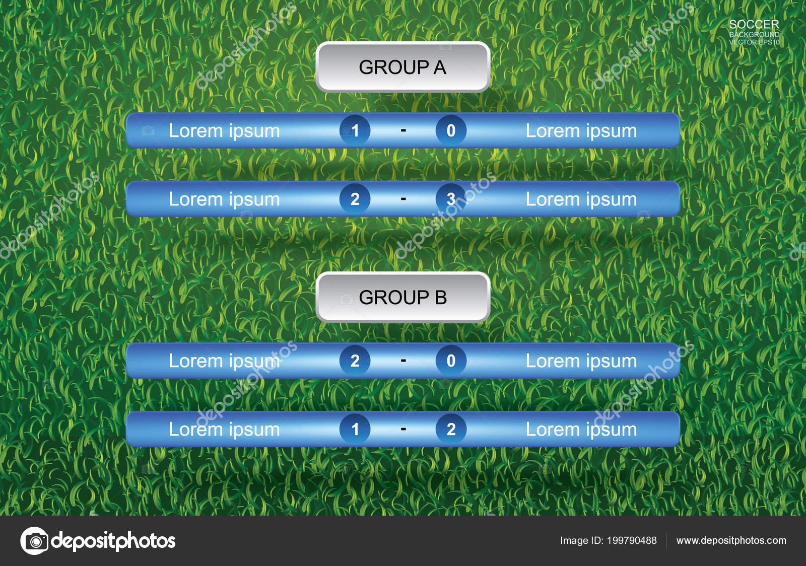 Calendario Campionato Di Calcio.Fiammifero Sfondo Calendario Campionato Calcio Calcio Con