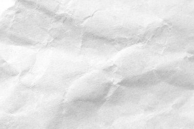 White crumpled paper texture background. Close-up image.