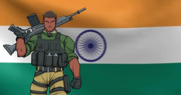 Indický voják pozadí animace