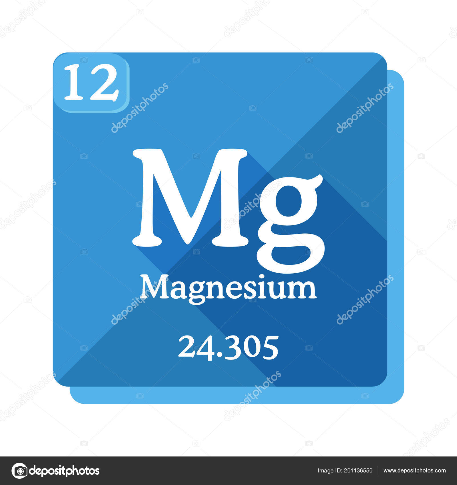 Magnesium Chemical Element Periodic Table Elements Magnesium Icon Blue  Background U2014 Stock Vector