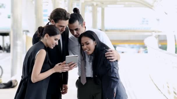 Young generation business team not working together concept. Young business intern of men and women having very serious fight and arguments with each other outside, with dramatic expression.
