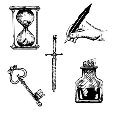 A set of sketches of objects