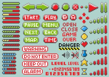 Set of pixel elements for navigation