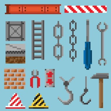 A set of pixel objects and tools