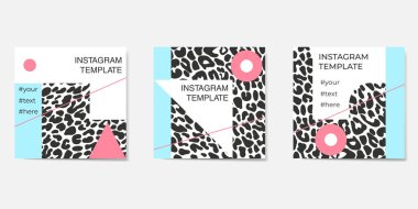 Set of abstract instagram templates. For personal and business accounts.