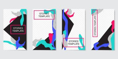 Editable Stories template. Streaming.Creative people collection.