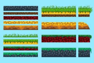 A set of basics for creating pixel seamless landscape