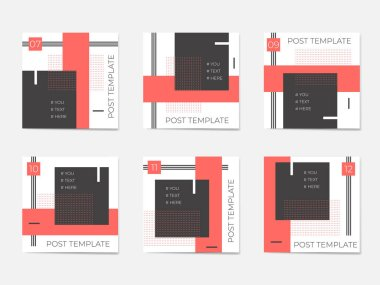 A large set for social media post templates. For personal and business accounts.
