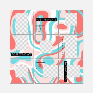 Big trendy editable puzzle template for social media post templates.
