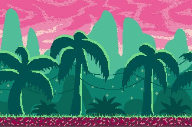 Pixel art background for games and mobile applications.