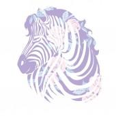 Fotografie Logo mit dem Kopf eines Zebras