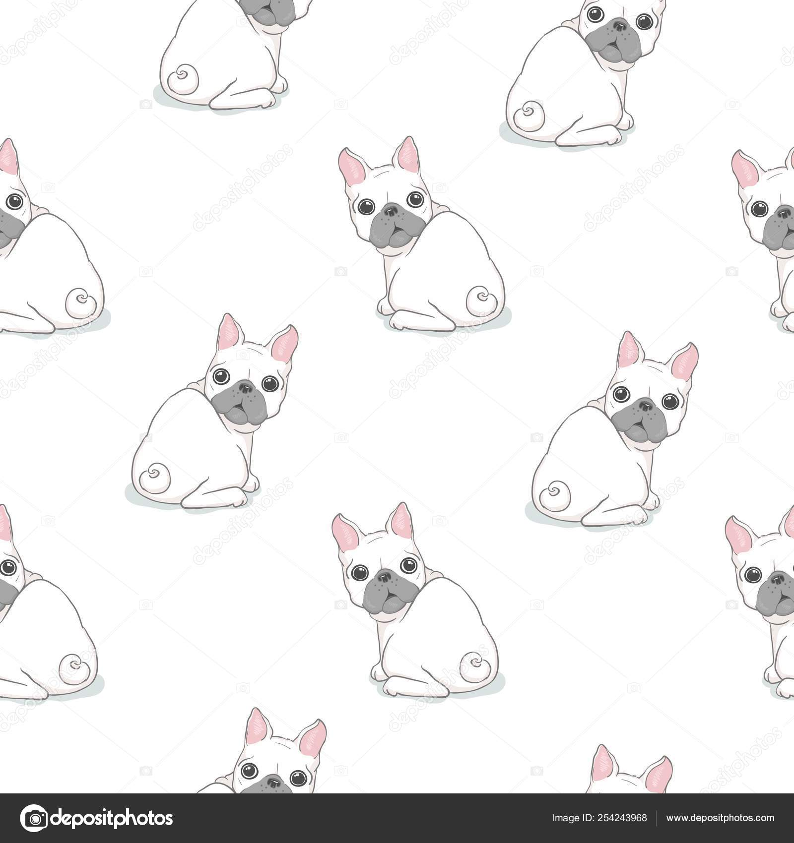 Dog Seamless Pattern French Bulldog Paw Vector Repeat Background Tile Cartoon Wallpaper Isolated Black Stock Vector C 89534886399 Mail Ru 254243968