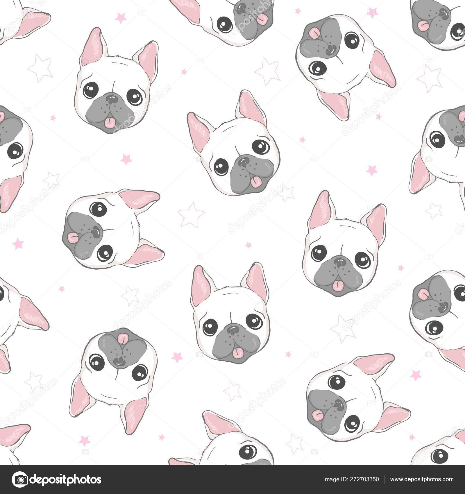 Dog Seamless Pattern French Bulldog Paw Vector Repeat Background Tile Cartoon Wallpaper Isolated Black Stock Vector C 89534886399 Mail Ru 272703350