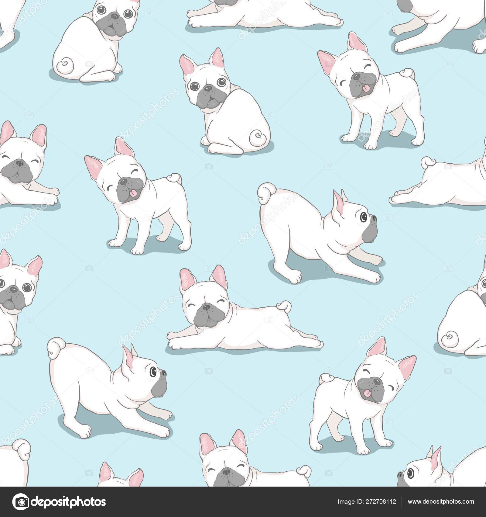 Dog Seamless Pattern French Bulldog Paw Vector Repeat Background Tile Cartoon Wallpaper Isolated Black Stock Vector C 89534886399 Mail Ru 272708112