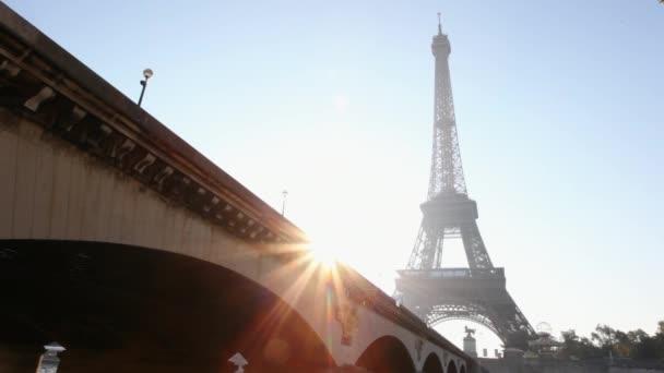 Eiffel tower and bridge at daytime, Paris, France
