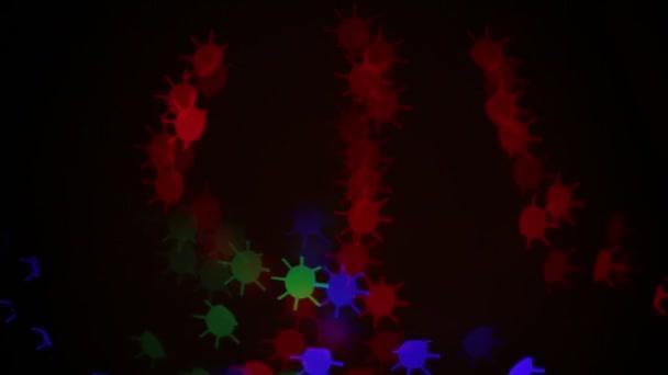 sfondo di luci bokeh a forma di sole o cerchio con punte multicolore diverso brillare brillantemente