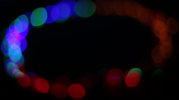 background of bokeh lights in the shape of multicolor circles different brightly shine and light bulbs flash