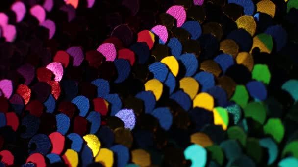 glänzende Textur Hintergrund irisierend mehrfarbige Pailletten