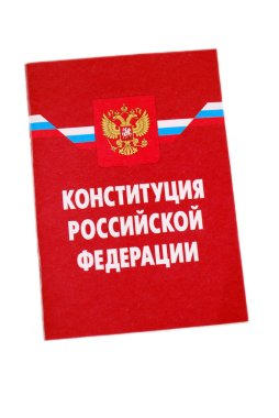 Book Constitution of the Russian Federation on a white background. Isolated.