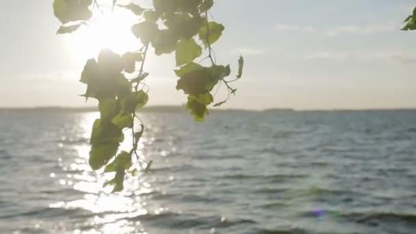 Sluneční cestu na moře, západ slunce na obzoru.