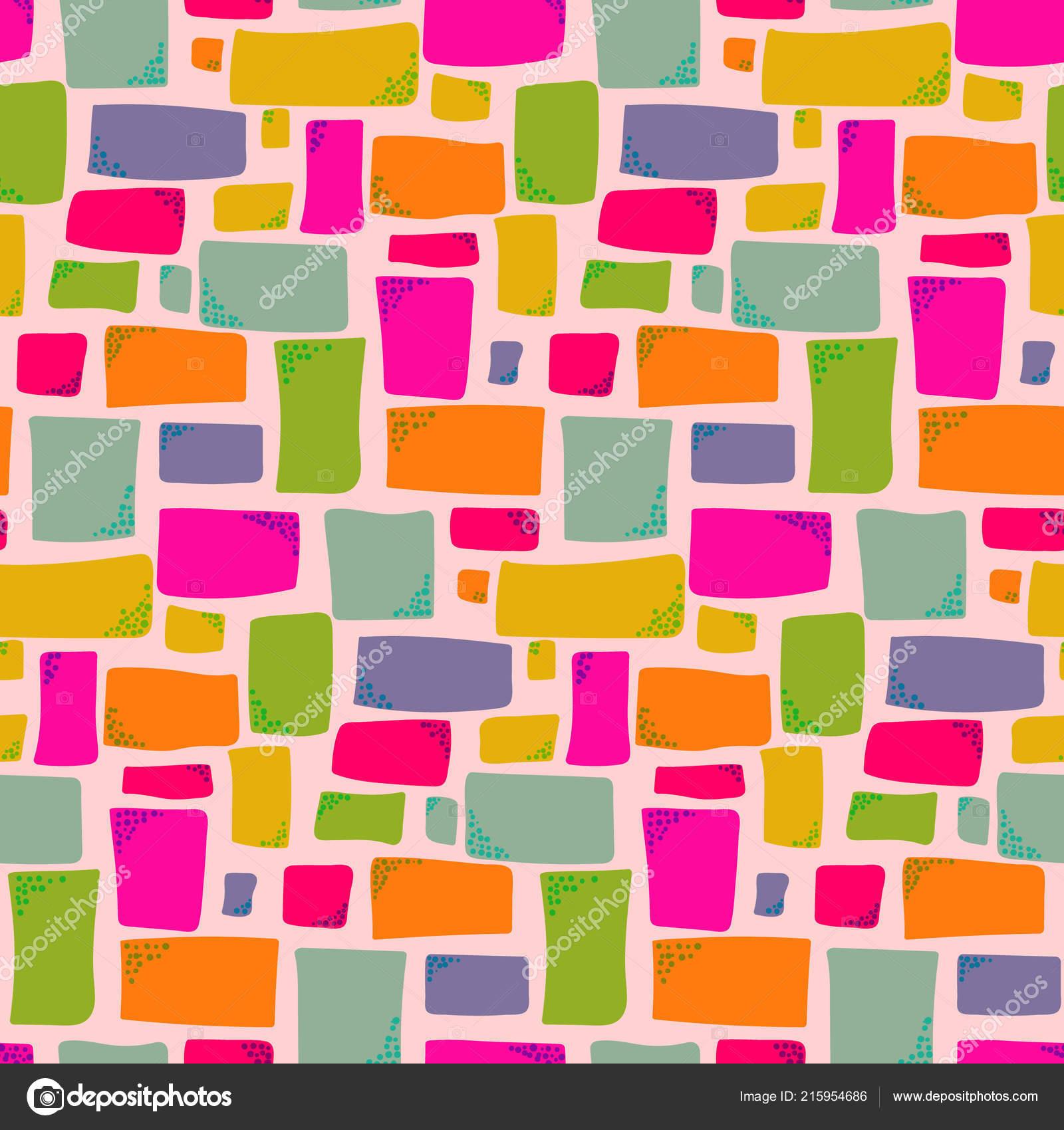 Modèle de couleurs chaudes avec des rectangles dessinés à la main ...