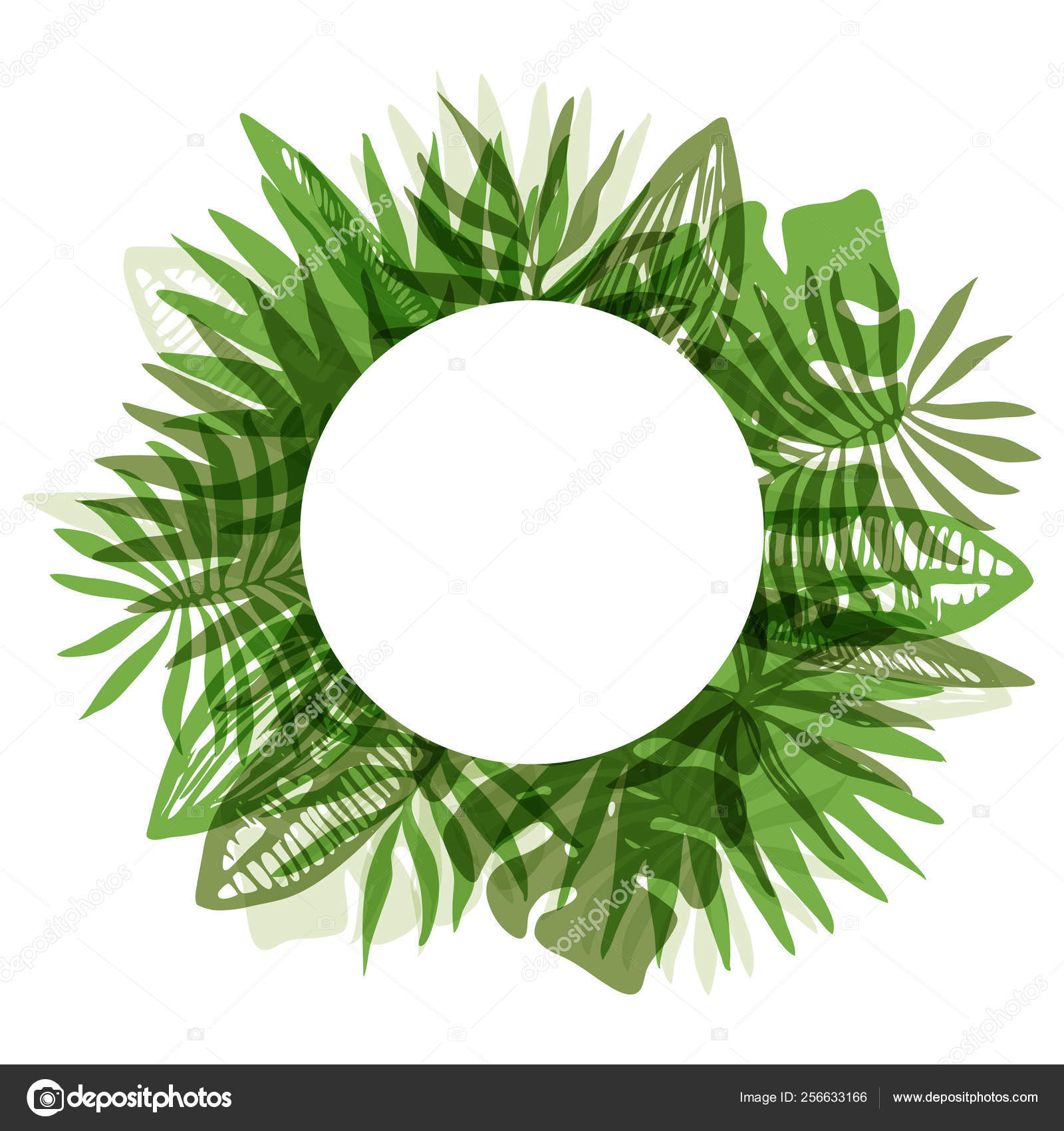 Elegant Green Round Frame Of Tropical Leaves Stock Vector C Tatahnka23 256633166 This vector resource about tropical, leaf, frame is easy for modification and ideal for printing. elegant green round frame of tropical leaves stock vector c tatahnka23 256633166