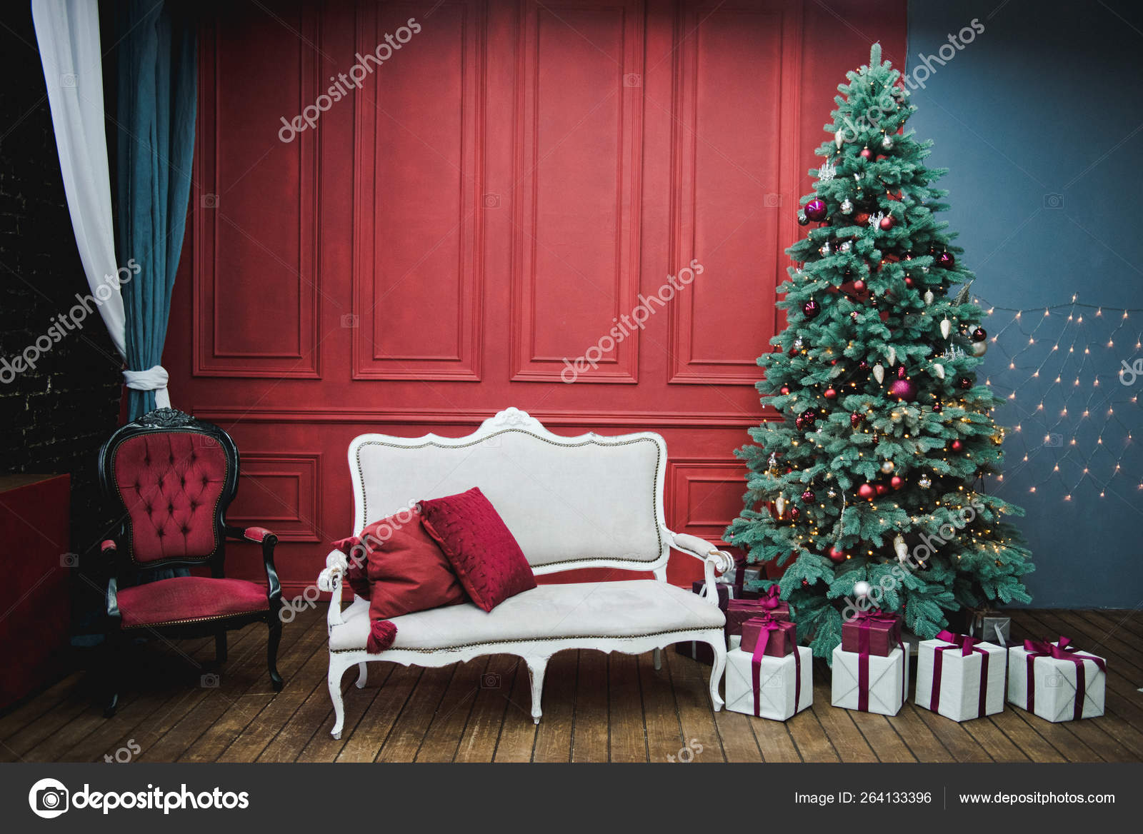 depositphotos stock photo beautiful new year decorated classic