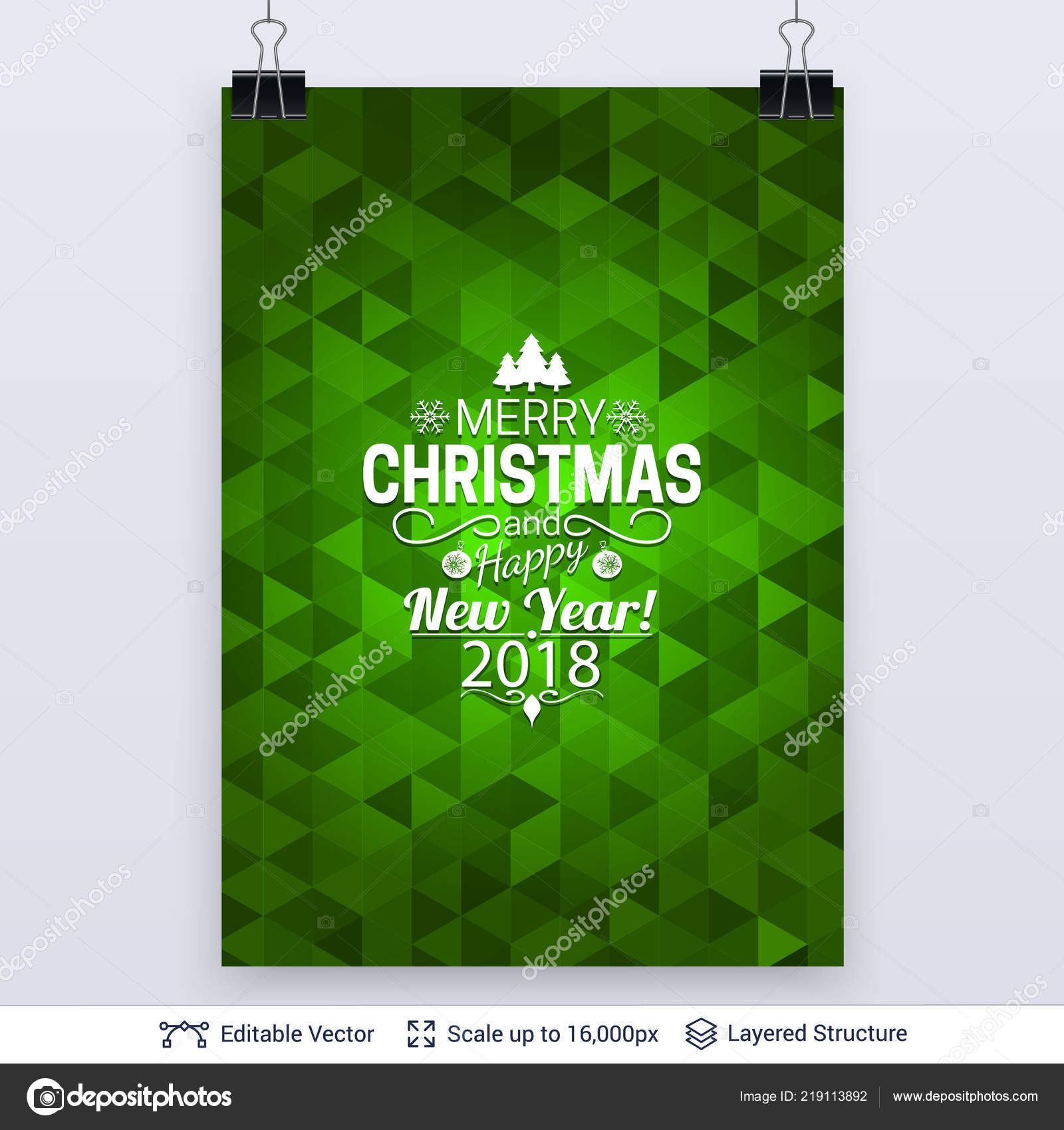 Zusammenfassung Hintergrund Mit Weihnachtsgruß Text Stockvektor