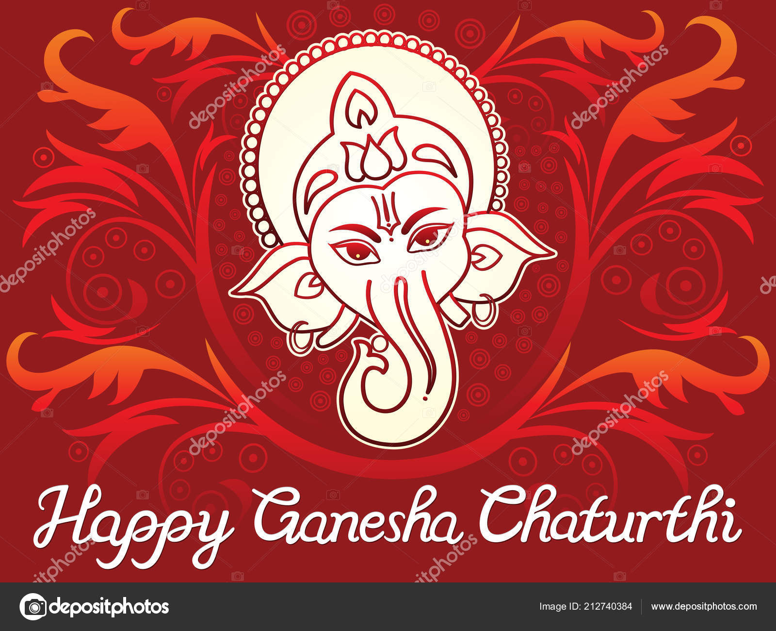 抽象芸術的な創造的なガネーシャ Chaturthi 背景ベクトル イラスト