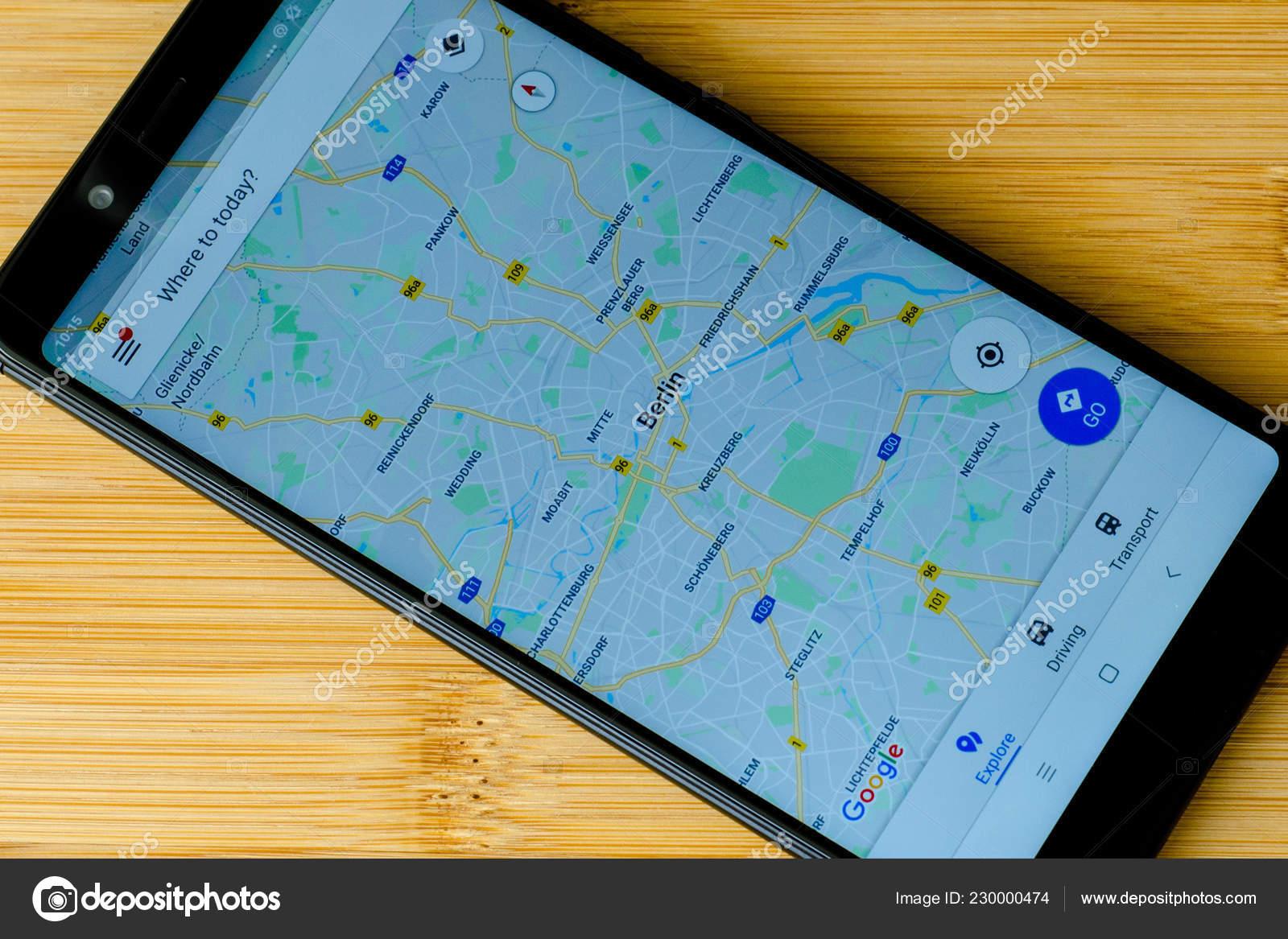 Kyiv Ukraine July 2018 Google Maps Screen Xiaomi Redmi Note
