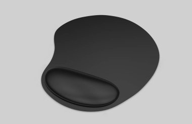 Blank mouse pad with computer mouse for branding or design presentation. 3d render illustration.