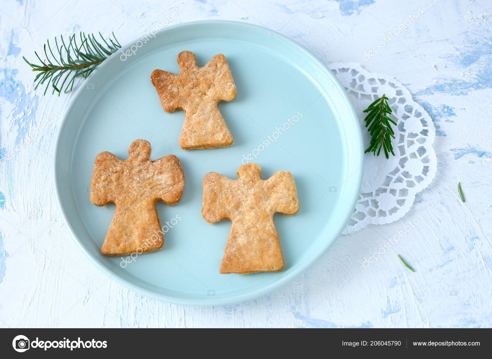 Three Angel Christmas Cookies Stock Photo C Rainbow33 206045790