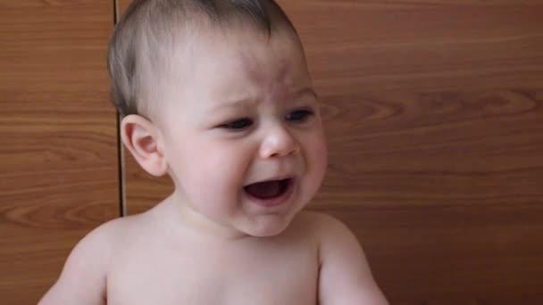 Portrét od 6 měsíců starý dětský výraz