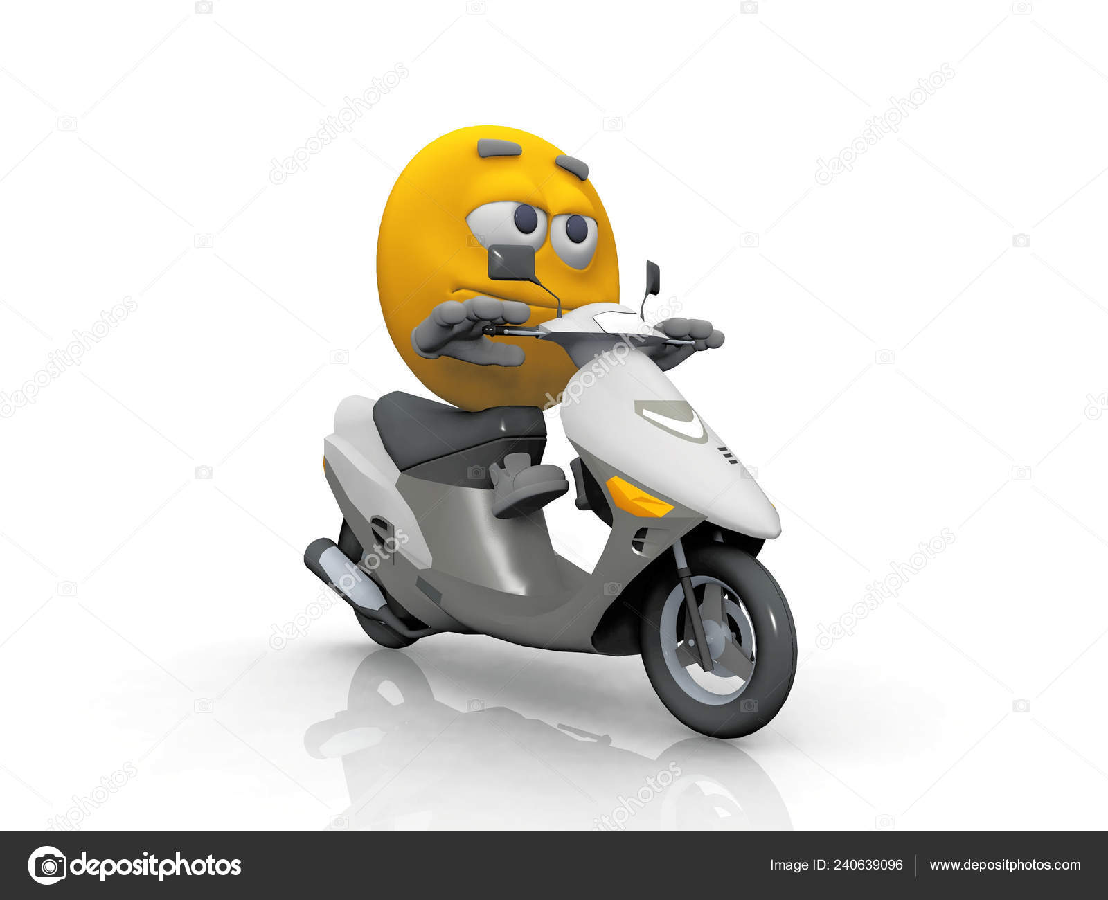 Emoticon Moped — Stock Photo © njaj #240639096