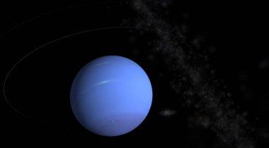 Planet neptun in space