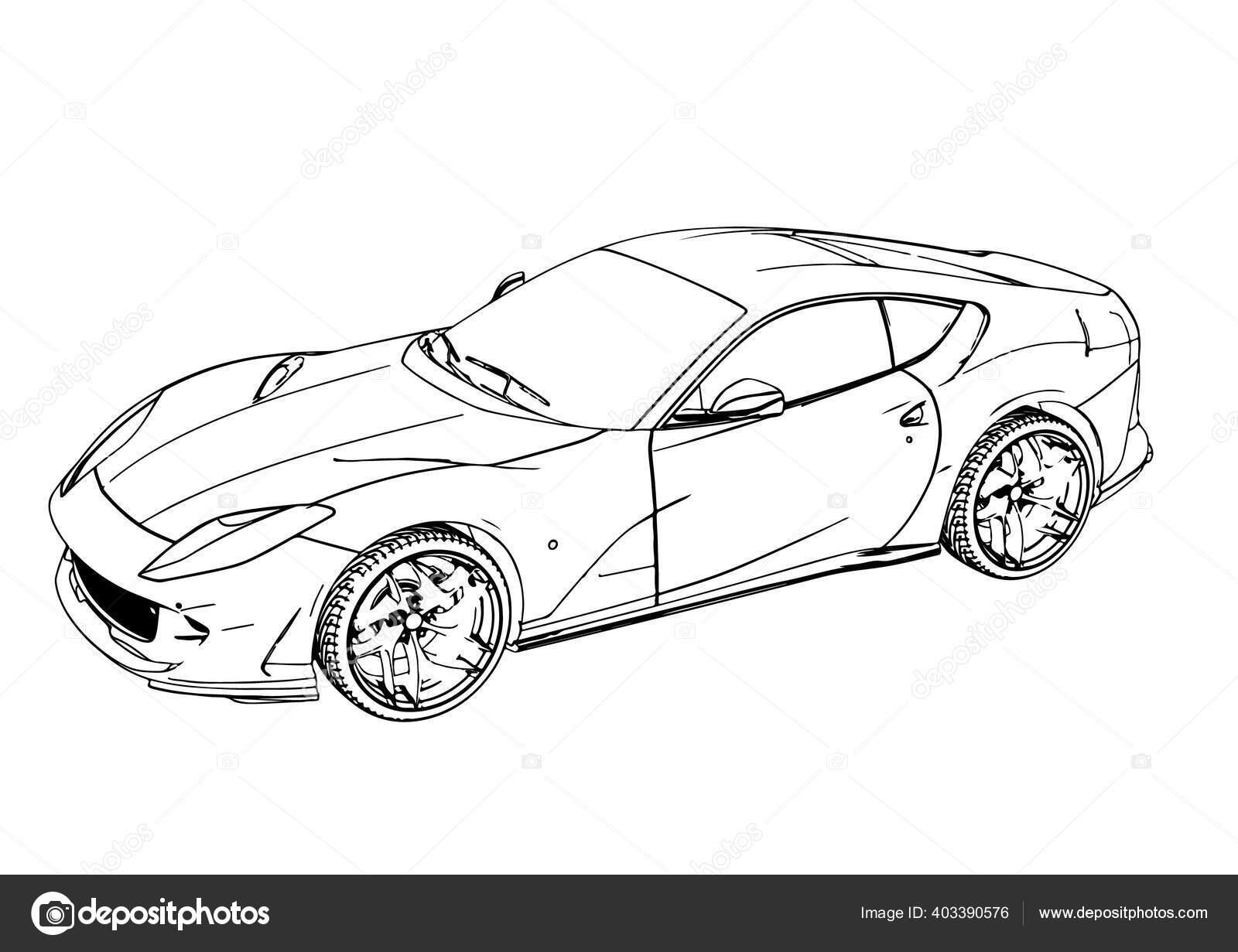 Sketsa Mobil Sport Vektor Cepat Stok Vektor C Prinsprf 403390576