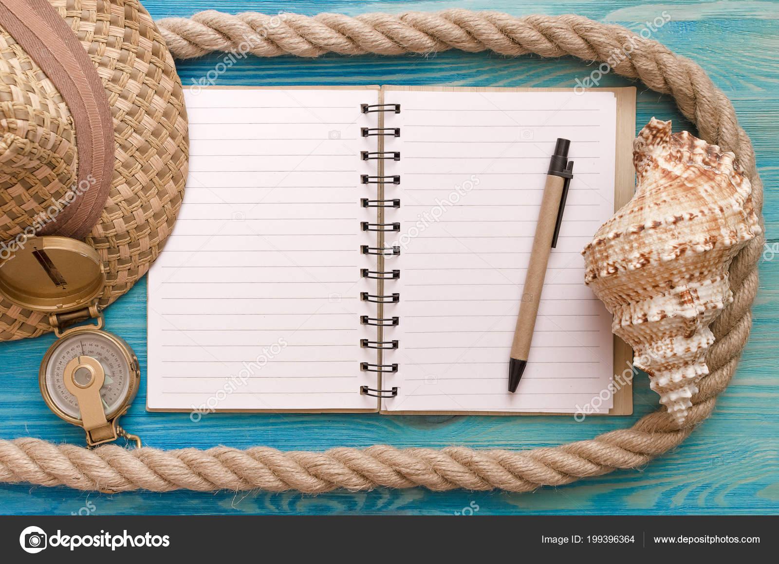 Marco Fondo Vacaciones Verano Blanco Páginas Bloc Notas Seashell ...