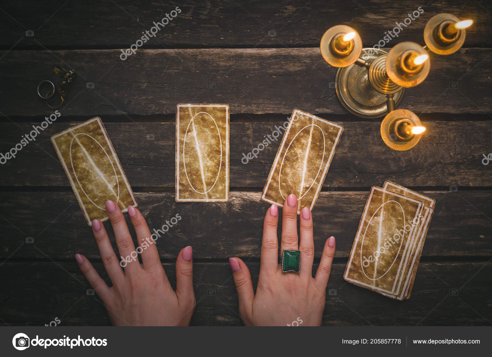 Tarot Cards Fortune Teller Desk Table Background Futune